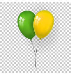 Balloons 3d bunch set thread isolated white vector
