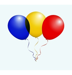 Balloons in Blue Yellow Red as Romania National vector