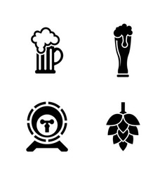 Beer simple related icons vector
