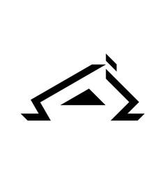 black roofing logo design vector image