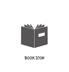 book icon simple flat style vector image