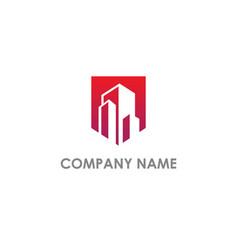 building cityscape realty company logo vector image