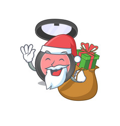 Cartoon design pink blusher santa having vector