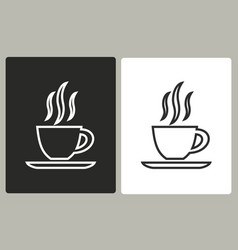 coffee cup - icon vector image