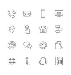 contact us icon internet website business symbols vector image