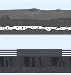 cross section of ground vector image