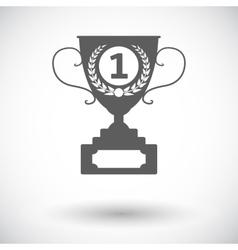Cup single icon vector image