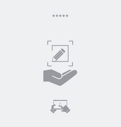 Customized design services - flat minimal icon vector