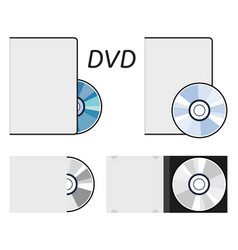 Dvd or cd disc icons vector