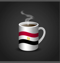 Egypt flag printed on hot coffee cup vector