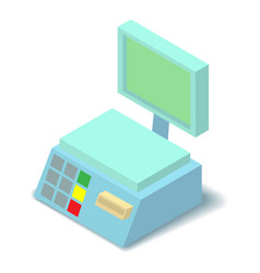 Electronic scales icon isometric 3d style vector
