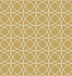 Elegant gold circle pattern vector