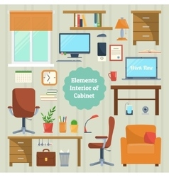 Elements of the interior cabinet vector