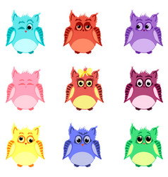 Emotions of owls vector