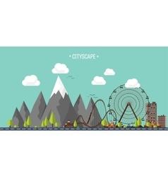 Ferris wheel carnival vector