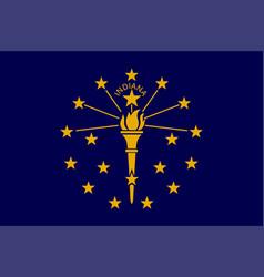flag usa state indiana vector image