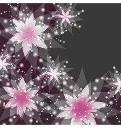 Floral background greeting or invitation card vector image