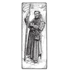 Friar tuck vintage vector
