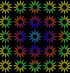 Geometric background of rainbow stars vector image