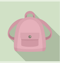 girl backpack icon flat style vector image