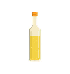 Glass bottle of oil vector