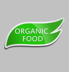 green sticker organic food vector image
