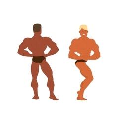 Gym fitness bodybuilder man vector image