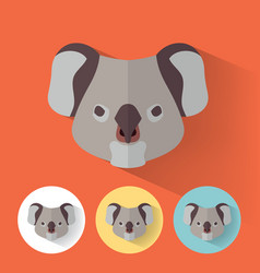 koala portrait with flat design vector image