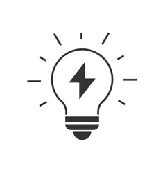light bulb with thunder vector image