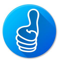 Like blue circle icon design vector