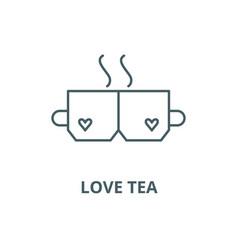 Love tea line icon linear concept outline vector