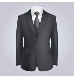 Male Clothing Dark Suit with Tie vector
