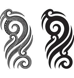 Maori tattoo pattern vector
