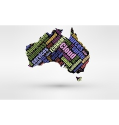 Map of Australia and Tanzania Theme of economy vector image