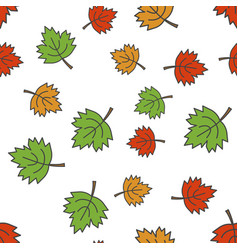 maple leaves flat seamless pattern on white vector image