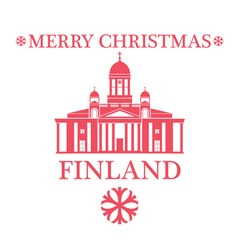 Merry Christmas Finland vector image