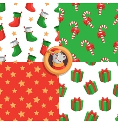 Merry Christmas pattern vector image