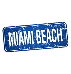 Miami Beach blue stamp isolated on white vector