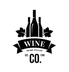 Modern wine logo sign for tavern restaurant vector