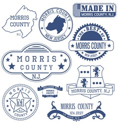 Morris county New Jersey stamsp and seals vector