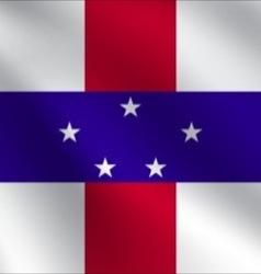 Netherlands antilles flag vector
