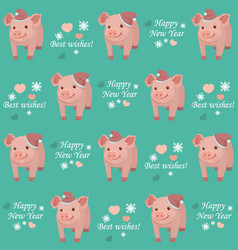 New year 2019 seamless pattern with pig vector