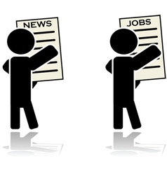 News and jobs vector image vector image