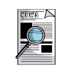 newspaper icon image vector image