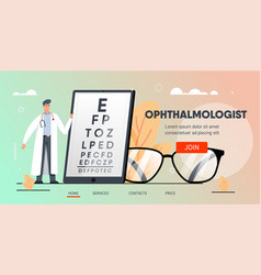 ophthalmologist with tablet vector image