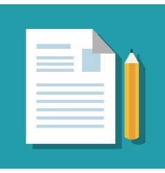paper with pencil isolated icon vector image