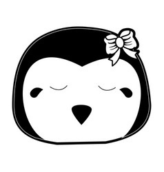Penguin crying cute animal cartoon icon image vector