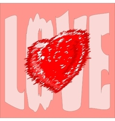 Prickly heart on background barbed love vector