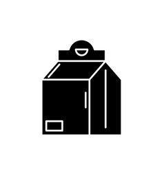 product in box black icon sign on isolated vector image