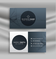 Professional gray business card vector